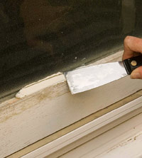 Repair glazing putty