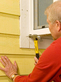 Attach exterior trim pieces