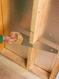 Finish cut using handsaw