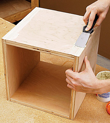 how to build modular boxes easy shelf projects built ins shelves bookcases diy advice. Black Bedroom Furniture Sets. Home Design Ideas