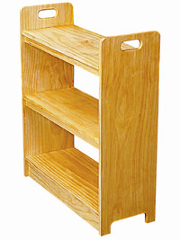Bookcase with handles