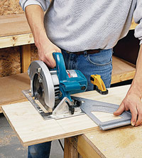 Crosscut with circular saw