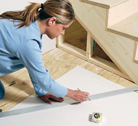 Transfer measurement to drywall