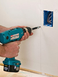 Finish fastening drywall