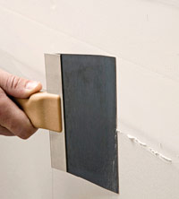 Push knife edge along wall