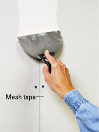 Cover tape with mud