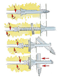 Toggle bolt illustration