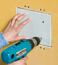 Install drywall patch