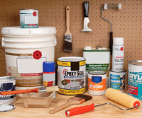 Paints, sealers and tools