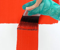 Apply paint into painted area
