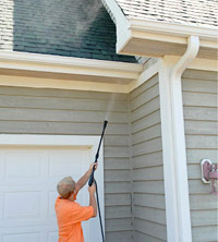 Wash eaves and soffits