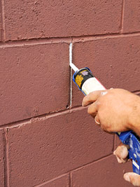 Fill crack with caulk