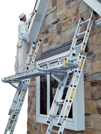 Ladder jack platform