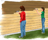 Stain siding