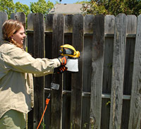 Spraying fence
