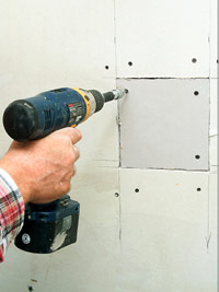 Cut drywall patch