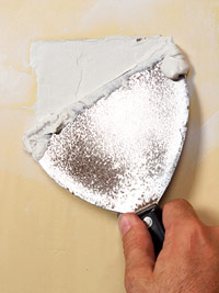 Apply patching plaster