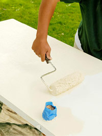 Paint with roller