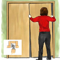 Closet door illustration
