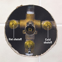 In-faucet stop valve
