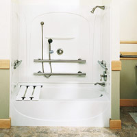 Tub and shower unit