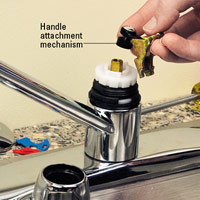 Handle attachment mechanism