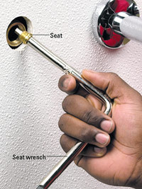 Remove seat with seat wrench
