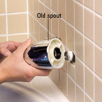 Remove old spout