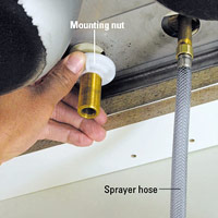 Install mounting nut