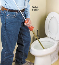 Using toilet auger