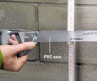 Cut out a section of PVC pipe