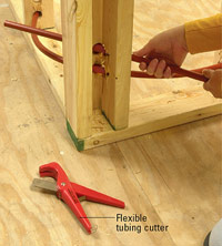 Run PEX through holes