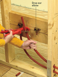 Cut PEX with tubing cutter