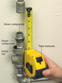 Measure for final section of pipe