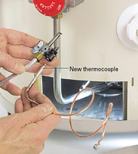 Reinstall thermocouple