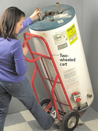 Remove old water heater