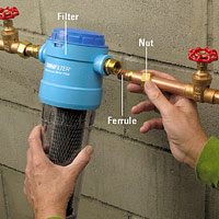 Slip filter onto pipes