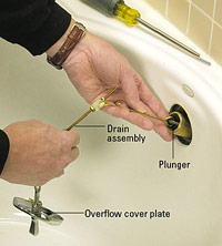 Pull out drain assembly
