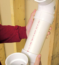 Dry-fit drainline fittings