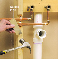 Running copper supply lines how to install a new for Best pipe for water lines