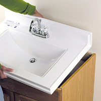 Dry-fit sink