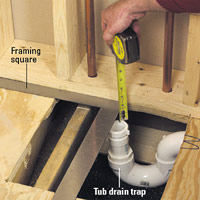 Check drain trap position