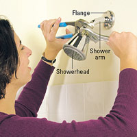 Tighten showerhead