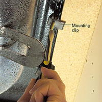 Tighten mounting clip