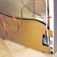 Attach copper tube to refrigerator