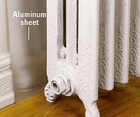 Direct heat with aluminum sheet