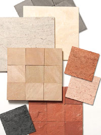Limestone and sandstone tiles