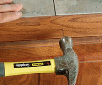 Install wood-trim edge