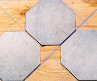 Irregular tile layout