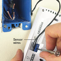 Attach sensor wires